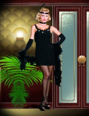 Womens Guys and Dolls Costume - Black Jazz