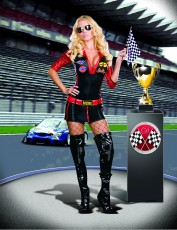 Womens Sexy Motor Racing Outfit - Ride It