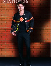 Mens Fireman Costume - Smokin' Hot
