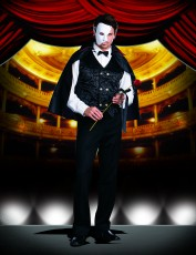 Mens Phantom Ghoul Costume - Mysterious Phantom