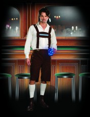 Mens Lederhosen Costume - Light Up