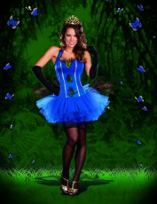 Womens Burlesque Costume - Peacock Bird