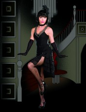 Womens Guys and Dolls Costume - Black Lady