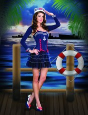 Womens Sailor Girl Outfit - Surf City