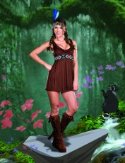 Womens Indian Girl Costume - Tribal Trouble