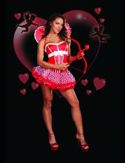 Womens Cupid Costume - Valentines Baby