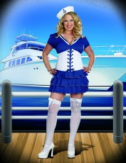 Womens Sailor Girl Costume - On Sail (Plus Size)
