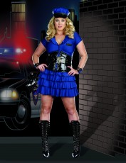 Womens Policewoman Outfit - Late Night Police (Plus Size)