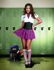 Womens Schoolgirl Costume - Prep School Princess