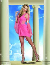 Womens Greek Godess Costume - Pink Passion