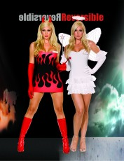 Womens Angel and Devil Costume - Hell and Back