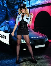 Womens Sexy Policewoman Costume - Officer