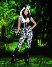 Womens Zebra Costume - Animal Stripes