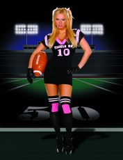Womens American Football Outfit - Pink Cheerleader