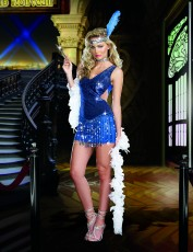 Womens Guys and Dolls Costume - Blue Dazzle