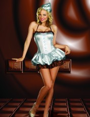 Womens Waitress Costume - Chocolate Smooch