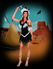 Womens Indian Tribal Costume - Tribal Princess