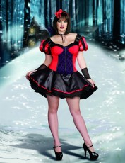 Womens Alternative Snow White Costume - Vampire (Plus Size)