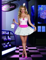 Womens Waitress Costume - Cupcake Cutie