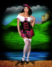 Womens Sexy Scottish Costume - Sassy Lassie (Plus Size)