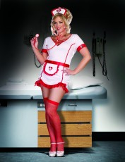 Womens Nurse Costume - Sexy Sedation (Plus Size)