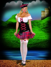 Womens Sexy Scottish Costume - Sassy Lassie