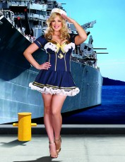 Womens Sailor Girl Costume - Rockin' The Boat (Plus Size)