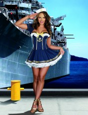Womens Sailor Girl Costume - Rockin' The Boat