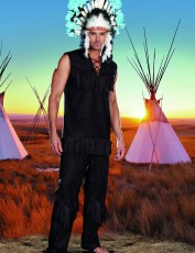 Mens Indian Chief Costume and Head Dress