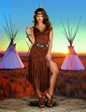 Womens Indian Tribe Costume - Trail