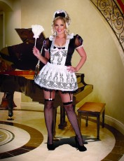 Womens French Maid Costume - Maid to Order (Plus Size)