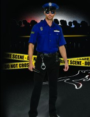 Mens Policeman Costume - You're Busted