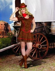 Womens Cowgirl Costume - Giddy Up (Plus Size)