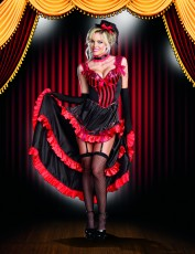 Womens Burlesque Costume - Can-Can Costume