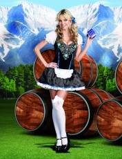 Womens Bavarian Waitress Costume - Schoolgirl