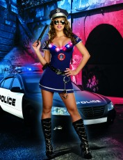 Womens Policewoman Costume - Heat Is On