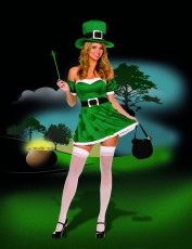 Womens Sexy Irish Costume - Lucky Irish Girl