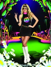Womens 60s Costume - Hippy Outfit