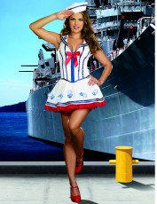 Womens Sexy Sailor Outfit - Anchors Away