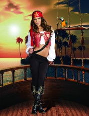 Womens Pirate Costume - Golden Booty