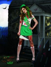 Womens Zombie Costume - Ghoul Scout Out