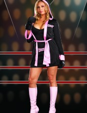 Womens Boxer Outfit - Pink and Black (Plus Size)