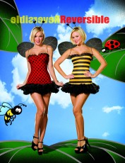 Womens Bumble Bee and Ladybird Costume (Reversible)