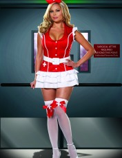Womens Sexy Nurse Costume - Vital Signs (Plus Size)