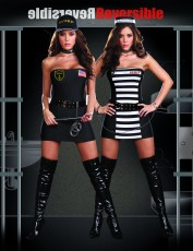 Womens Cops and Robbers Reversible Costume