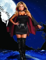Womens Sexy Vampire Costume - Fang Fun (Plus Size)