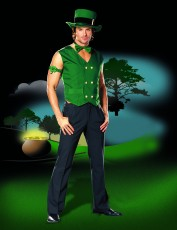 Mens Leprechan Outfit - Lucky Leprechaun