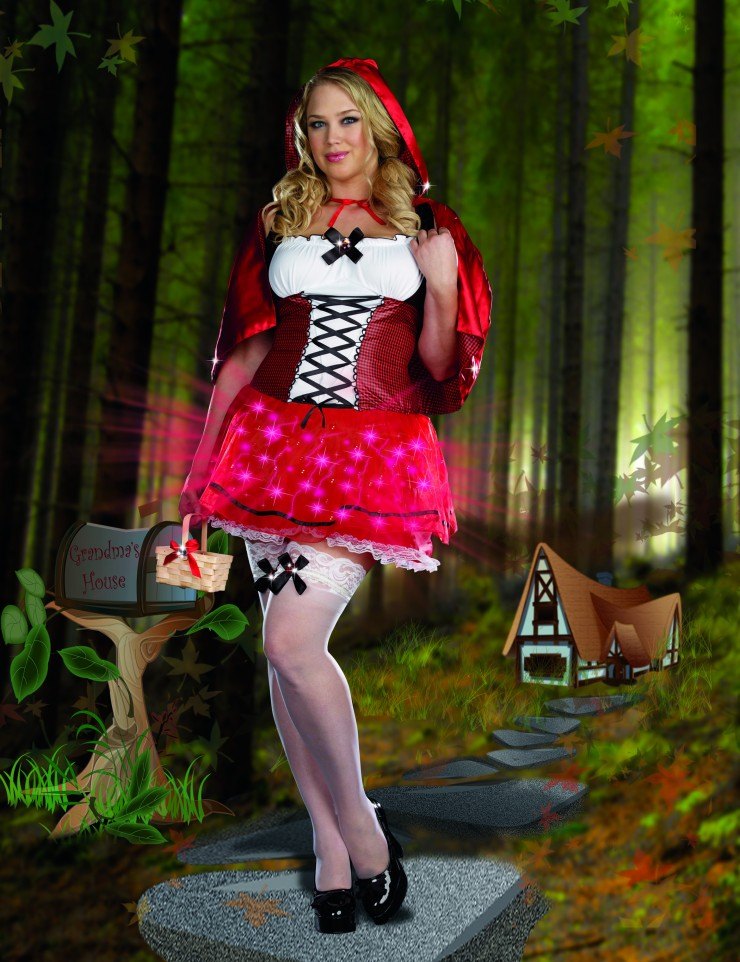 Womens Little Red Riding Hood Costume - Fairytale (Plus Size) by ... ae218c2f5