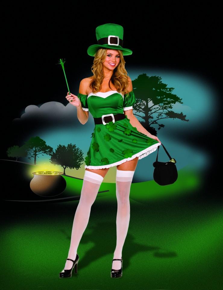 Womens Sexy Irish Costume - Lucky Irish Girl