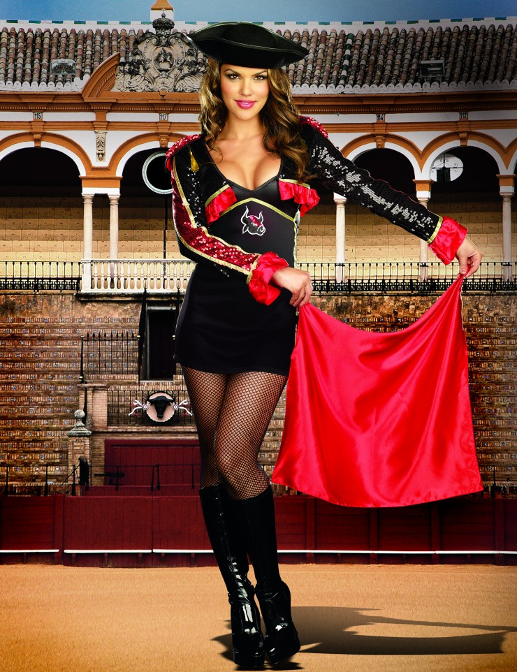 matador women Product features this adult sized red and black fringed hat adds style to any matador costume.
